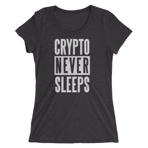 Womens Crypto Never Sleeps Tee
