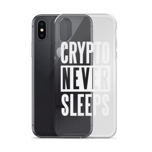 Crypto Never Sleeps iPhone Case