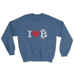 Bitcoin Love Crew Sweatshirt